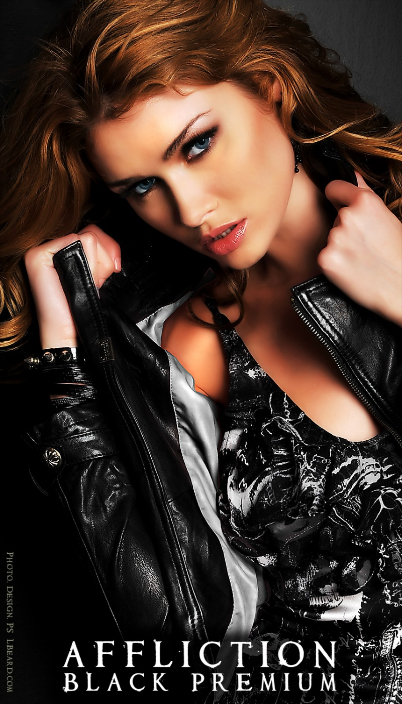 LA Apr 22, 2009 Larry Beard New Affliction Black Premium Ad  Featuring Sarah Mutch