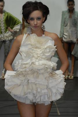 alternative fashion week Apr 25, 2009 najlaa jabri ruffle top/ dress