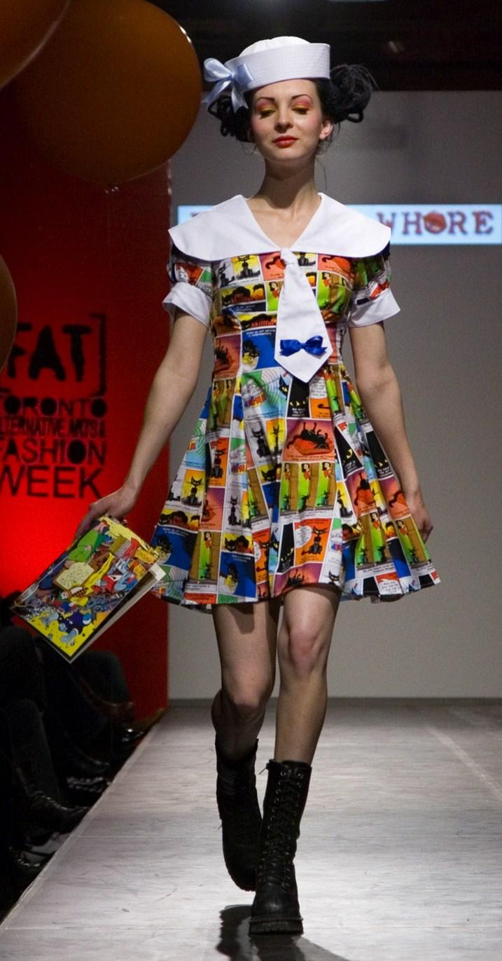 Toronto Alternative Fashion Week Apr 27, 2009 Photo- Roy Belding Model- Iva Zi Sailor Comic Book Dress