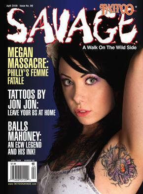 Philadelphia Tattoo Convention Apr 27, 2009 Savage Magazine April 2009 shot by Studio 9000 2009 Savage Tattoo Magazine, Interview, center fold, and cover