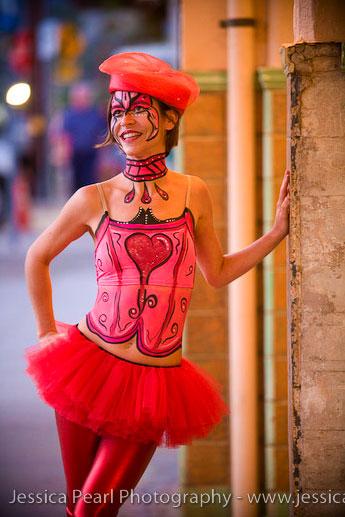 Wailuku, Maui, Hawaii Apr 28, 2009 Jessica Pearl Body Paint Girl @ Iao Theater