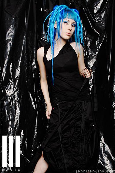 Female model photo shoot of blu jay by Jennifer Link in Buffalo, NY, makeup by Rachel Mazzie
