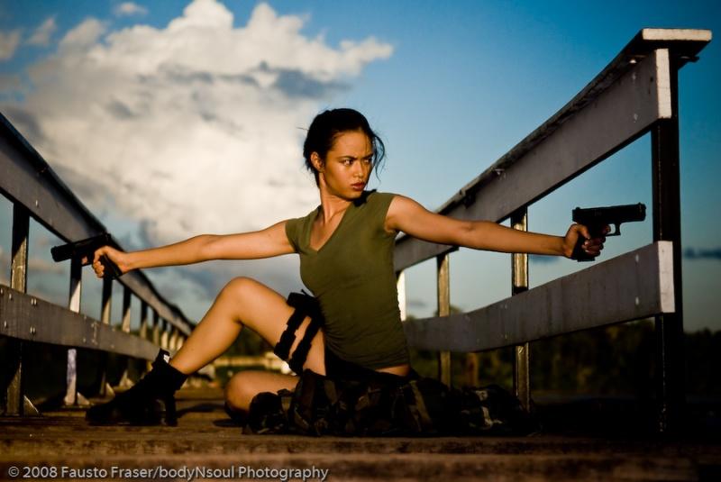 White Beach (Suriname) May 01, 2009 As Lara Croft for UNITED-magazine