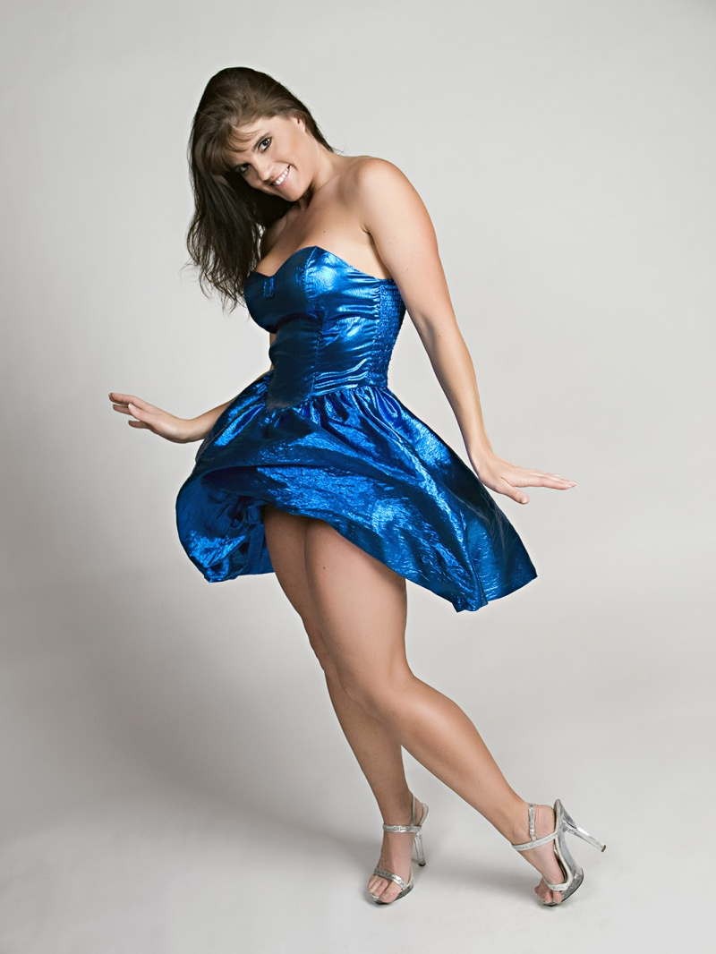 Olympia, WA May 04, 2009 Shiney Blue Dress