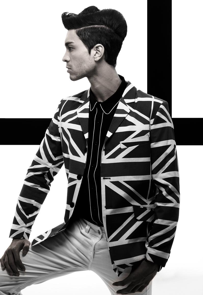 Male model photo shoot of Josh Hendriks by Barry Jeffery in Direct Studio's London, wardrobe styled by Kate Jeffery