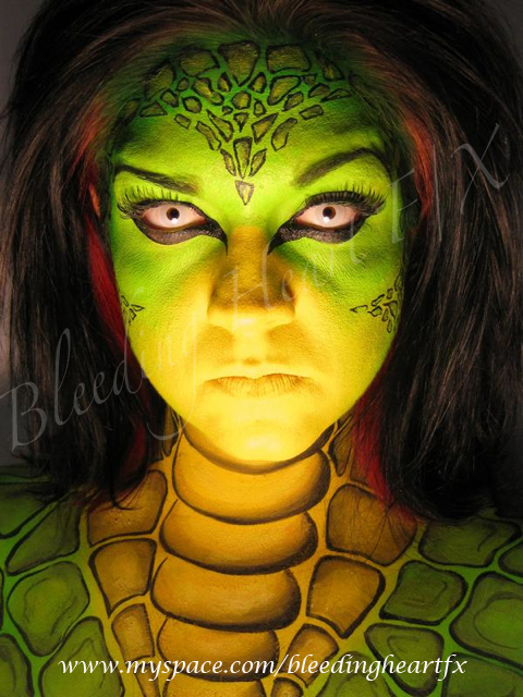 May 06, 2009 Reptile Face and Body Painting