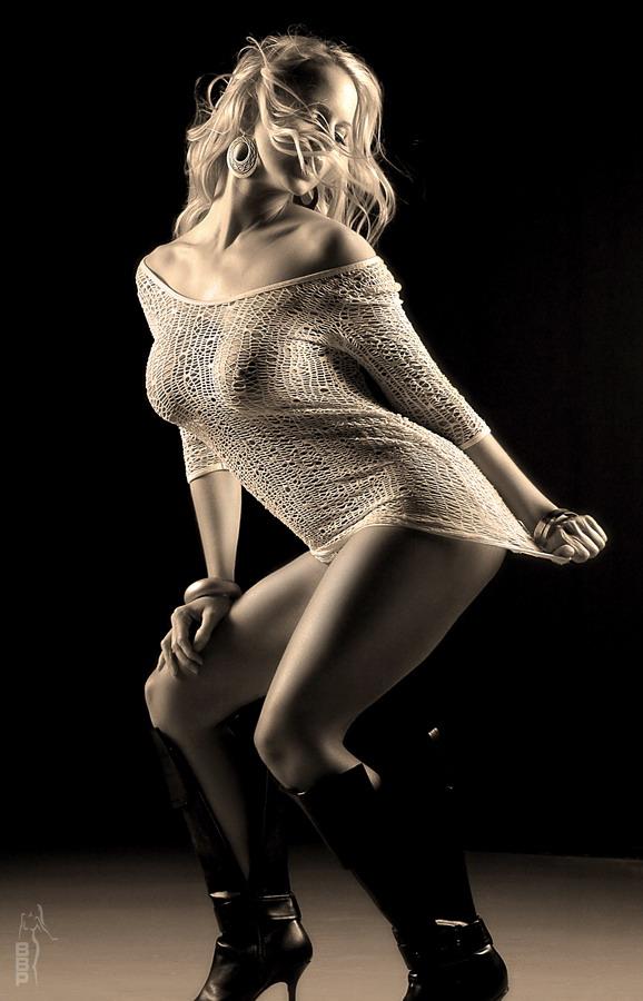 Male and Female model photo shoot of Bruce Brandon and Misty Dawn in Dalla Studio