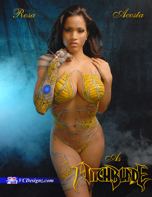 Teaneck, NJ May 07, 2009 VCDesignz I body painted and shot Rosa as WitchBlade