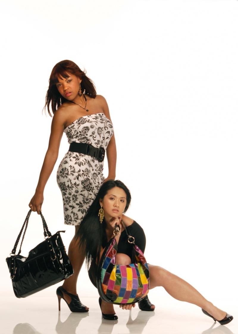 Houston, TX May 08, 2009 Vangelis Fashion Design by S Mubashir, Handbags by MJK Global
