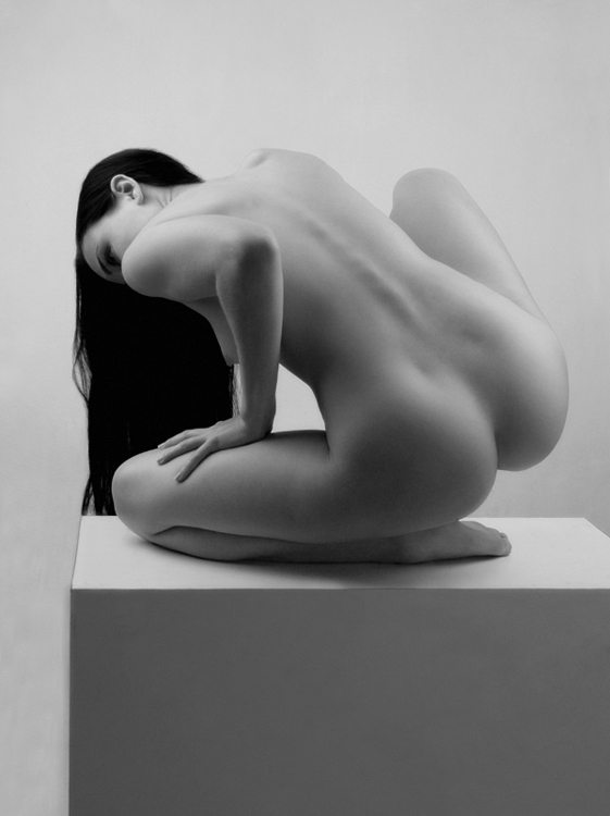 Nude figure model stock photo