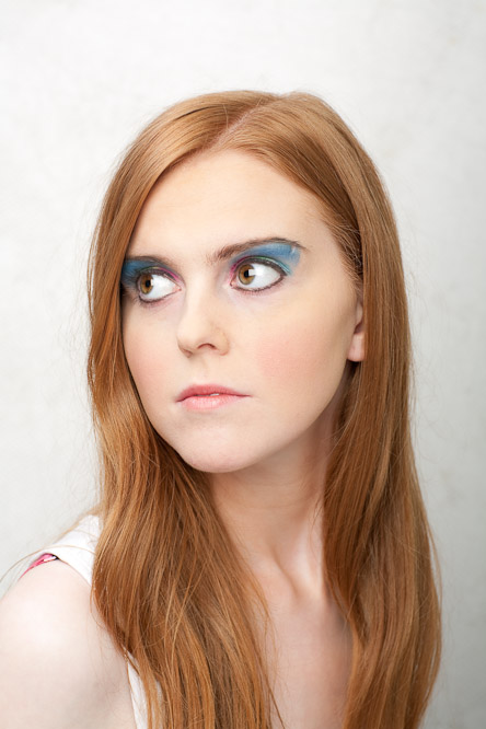 Female model photo shoot of Patricia Ward by Kip Carroll in Fablicious make-up academy. Artist Maebh.