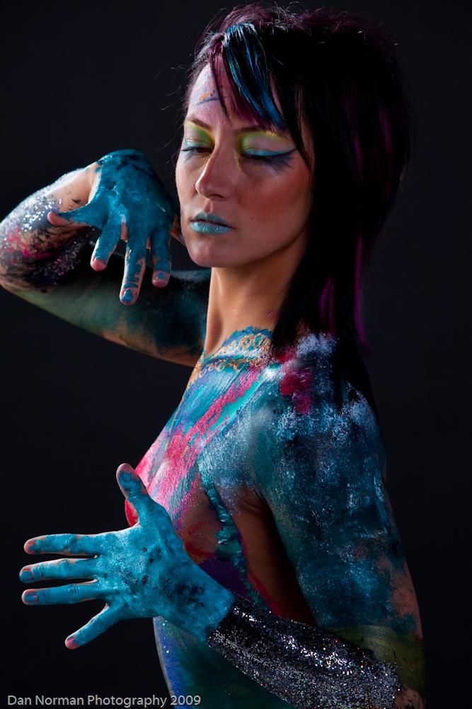 Male model photo shoot of daNorman in Sevnthsin Studios, body painted by Jacob Alexander Figueroa