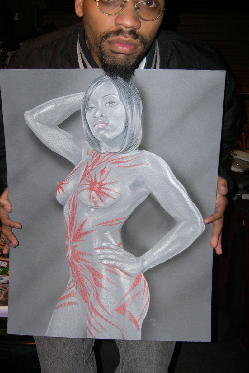 Snellville, GA May 14, 2009 My damn self Fine Art rendering of one of my models (color pencil/airbrush)