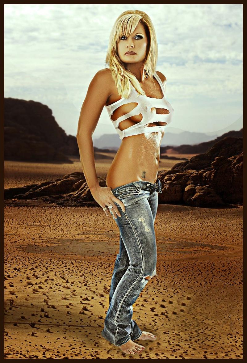 In the Desert Somewhere! May 17, 2009 The Golden Touch Modeling Hot Desert!