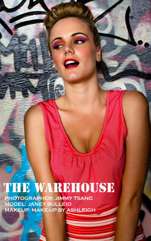 Female model photo shoot of Make-up by Ashleigh in Warehouse