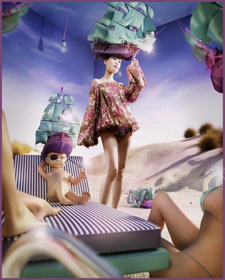 May 19, 2009 Styling, Model: Cecila Lou ; MUA: FeiFei Beach Bitch
