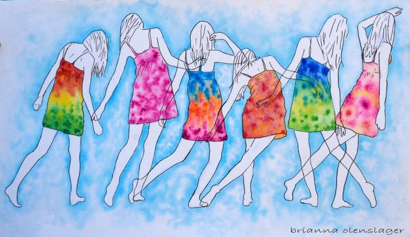 May 19, 2009 Brianna Olenslager Watercolor tie-dye
