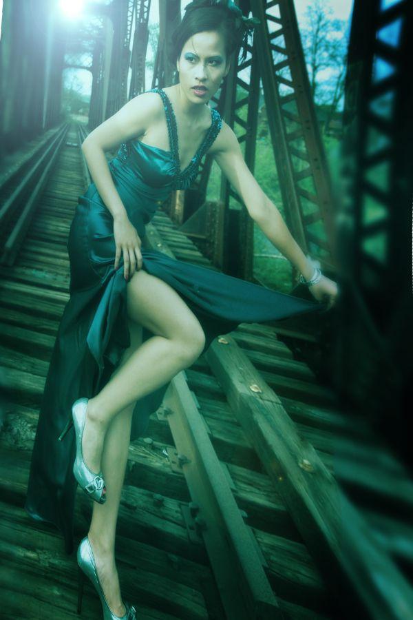 Female model photo shoot of MissHan by Artlitsol, makeup by Kristen S Makeup