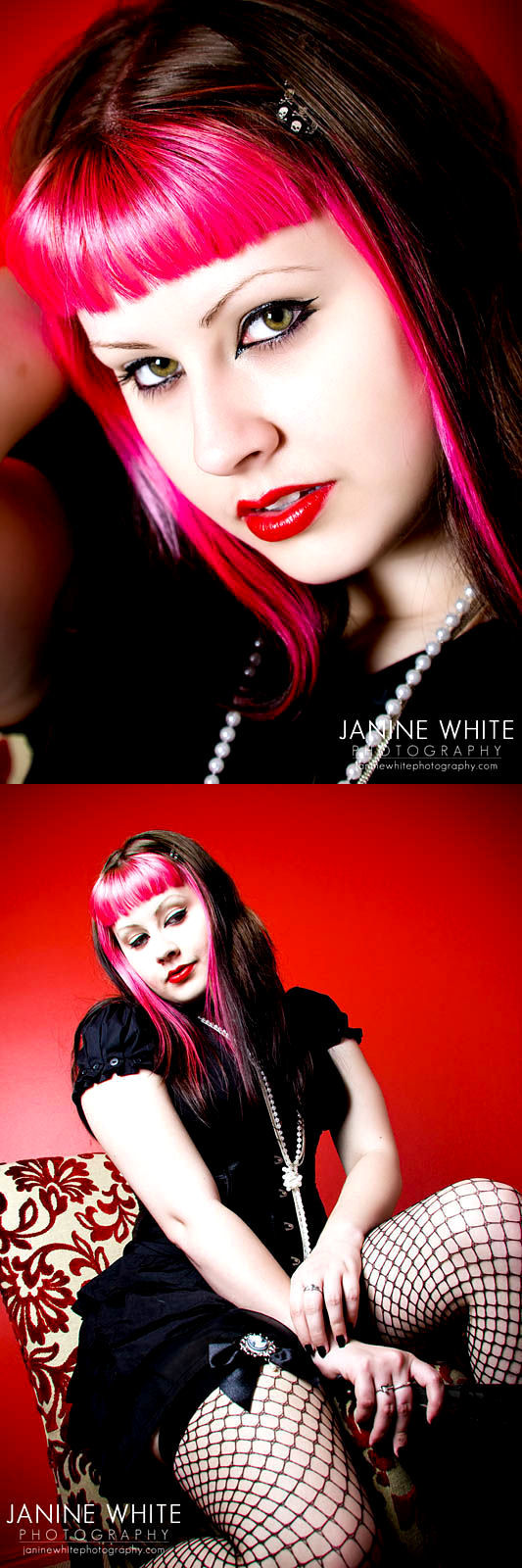 Female model photo shoot of DeadDollyX by JanineWhite Photography