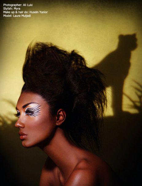 Jakarta, Indonesia May 24, 2009 Harpers Bazaar Indonesia model:Laura Muljadi , photographer: Ali Luki, make up and hair do: Husein Yunior, stylish: Myra African Beauty (Zebra)