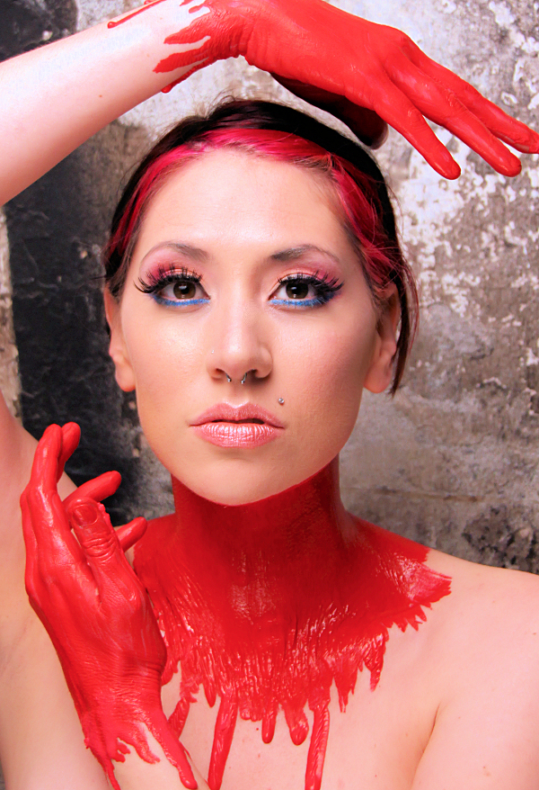 House of Nightmares May 24, 2009 Laura Dark Liquid latex by Laura/Face makeup by me- POTD winner 04.24.09