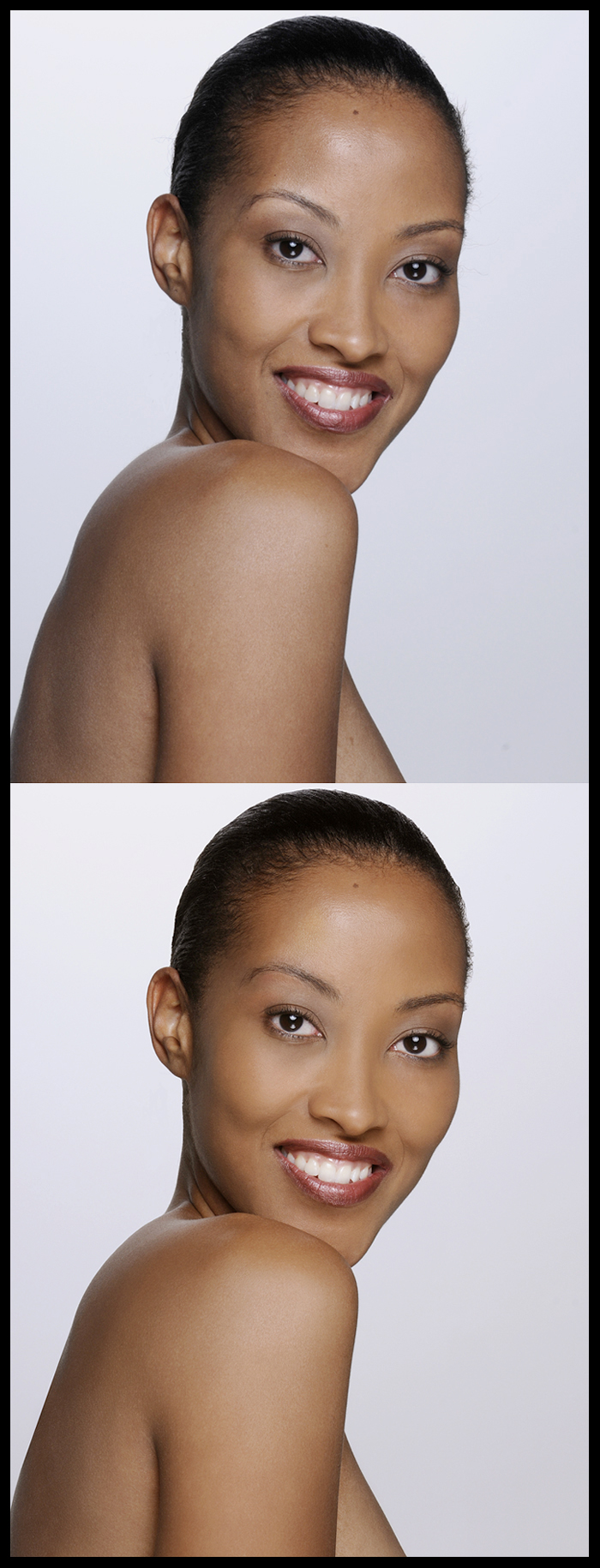 May 24, 2009 Photo © Bruce Talbot Basic beauty retouching - Even out skin tones, blemish removal, general touch ups - 1 hour.