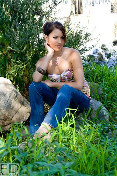 Female model photo shoot of  Abercrombie