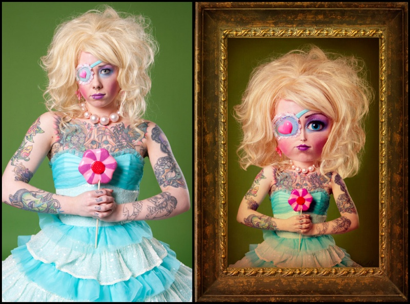 Philadelphia May 26, 2009 David Van Allen Megan as a Doll Before And After