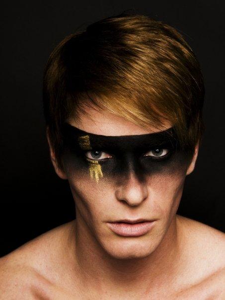 Toronto, Canada May 26, 2009 Hayley Alys Makeup Artist Masked Man
