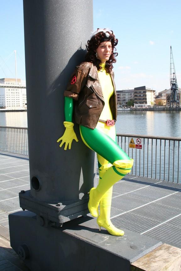 London, UK Jun 01, 2009 Rebecca McNamara Rogue X-Men Costume Shots