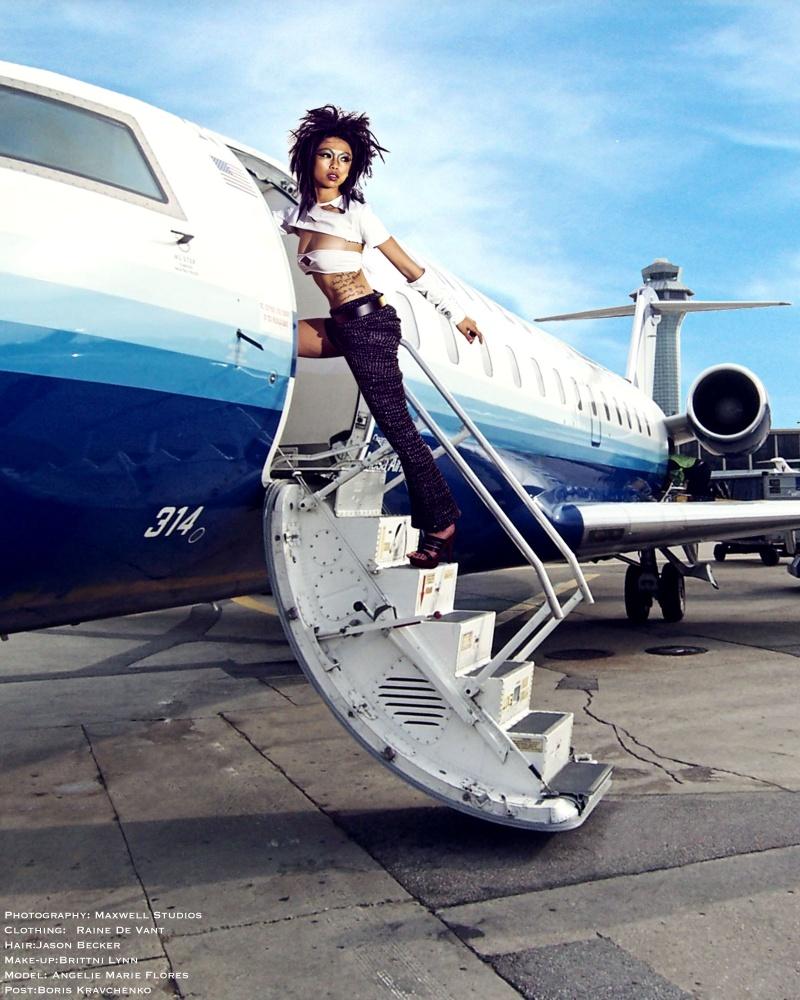 Female model photo shoot of Angelie Marie Flores, clothing designed by Raine De Vant