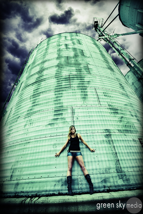 New Castle, IN Jun 04, 2009 Stephen Simonetto - Green Sky Media Rachel and her silo