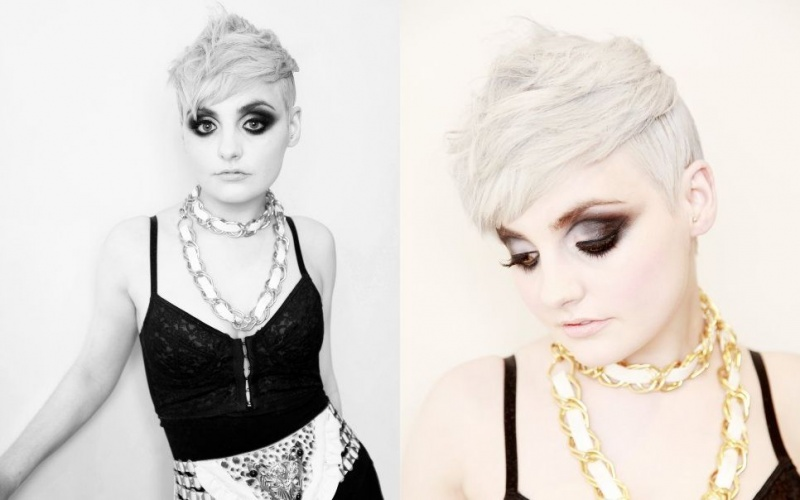 Glasgow Jun 05, 2009 Saks Hairdressing shoot,Claire Burns Photography -  make up by Kaeleigh Wallace