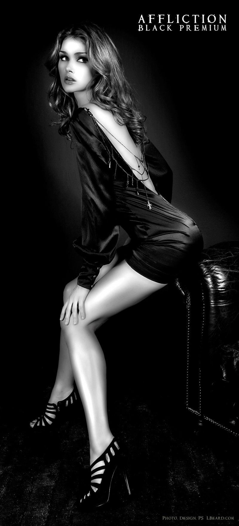 LA CA Jun 08, 2009 LBeard.com Model Sarah Mutch for Affliction Black Premium
