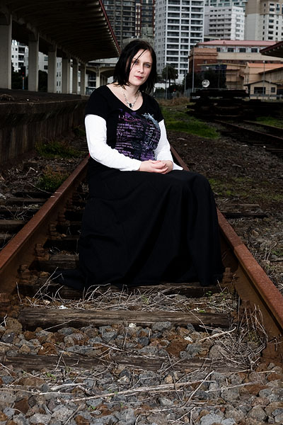 Female model photo shoot of Lily Lachrimae by Andrew Hales in Old Railway Station