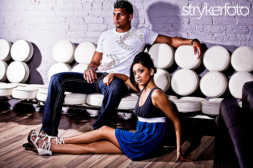 Male and Female model photo shoot of Strykerfoto and Kristina Labbe in visage night club