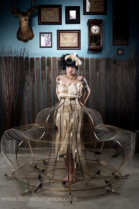 Jun 13, 2009 birdcage dress designed by Kasey McMahon