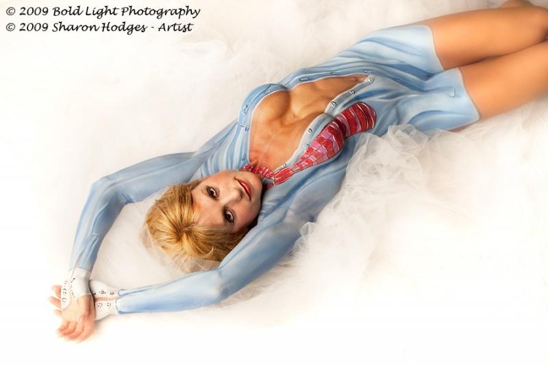 Female model photo shoot of Ashley Reese by Dan Leffel in McKinney Studio, makeup by Sharon Hodges
