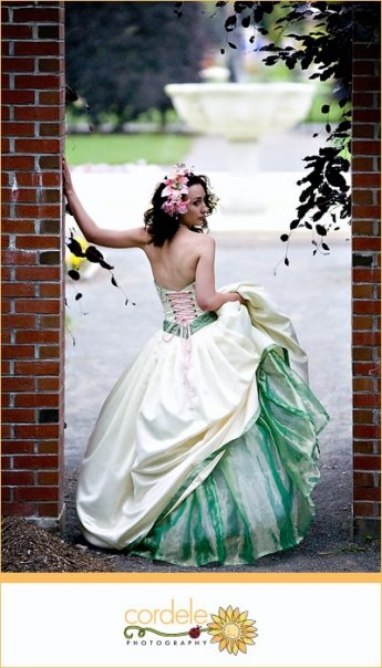 Elm Bank Reservation Jun 19, 2009 Laura Kane for C.D.D Designs, Cordele Photography Reversible Colored Wedding Gown