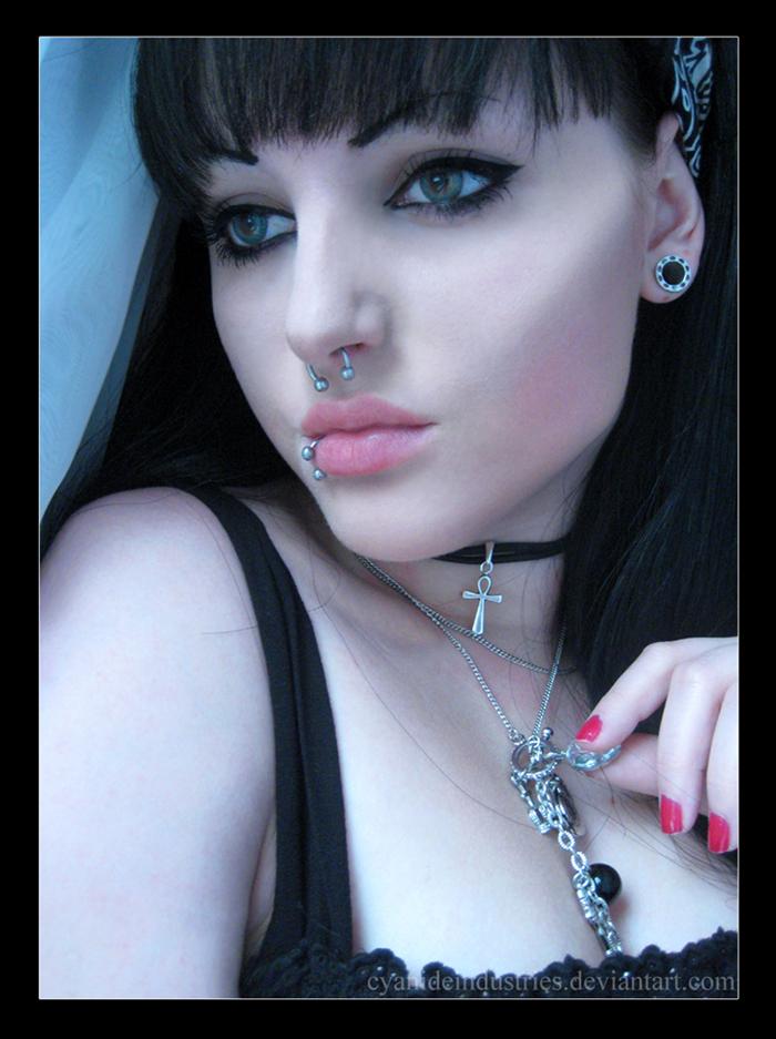Female model photo shoot of cyanide industries