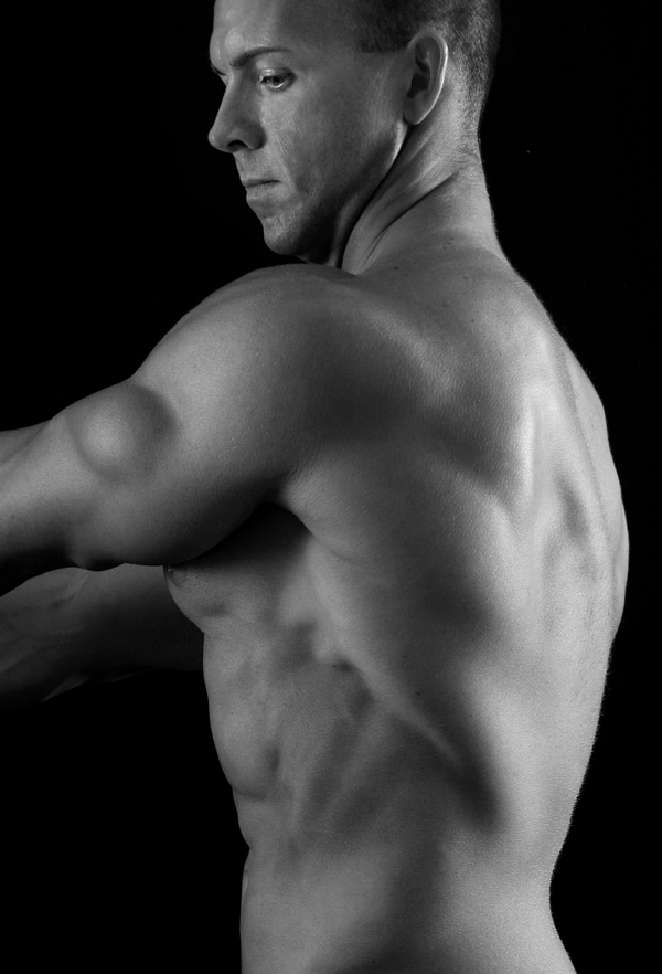 Male model photo shoot of Kris Vigus by Terry Thompson in Dallas studio