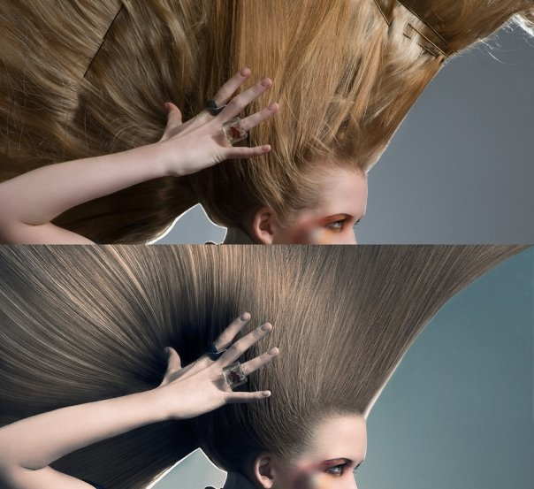 Paris, France Jun 22, 2009 Anthony Chambert before after hairs - i sometimes am asked just to work on some part of an image, and this is an exemple, only hair work, it took 3 hours to complete, nothing was added from another picture :)