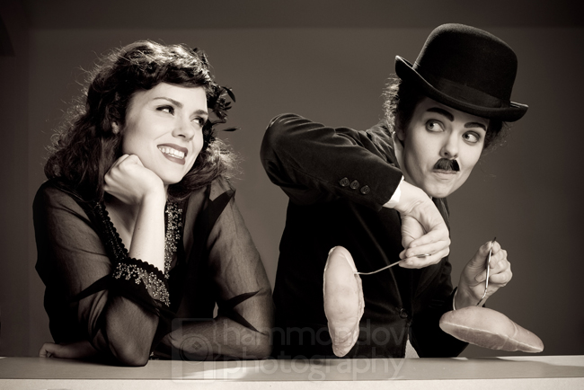 Leander, TX Jun 24, 2009 Geoffrey Hammond Leslie as Charlie Chaplin AND Paulette Goddard
