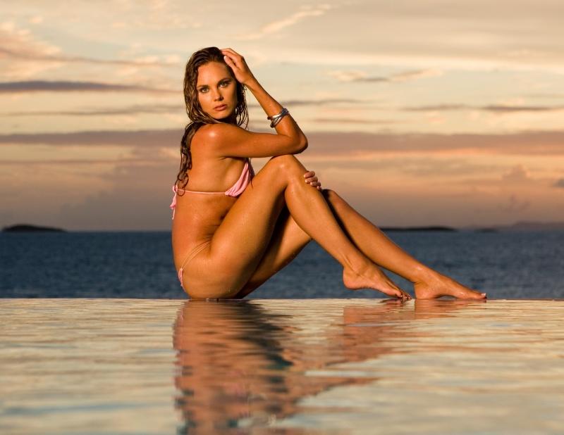 Female model photo shoot of Eleya Maureen in Water Island- U.S.V.I.