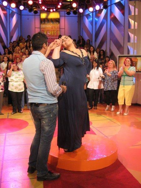 Caracas, Venezuela Jun 24, 2009 JAB TV Show Portada´s  (Garment cortesy of www.igigi.com)