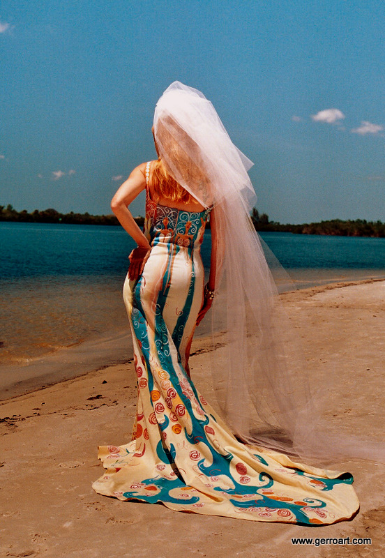 Florida Jun 25, 2009 Gerro Wedding Gowns Hand Painted by Gerro