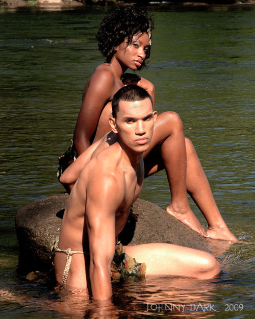 Male model photo shoot of Johnny Dark and Christian Elamparo in Columbia, SC , River