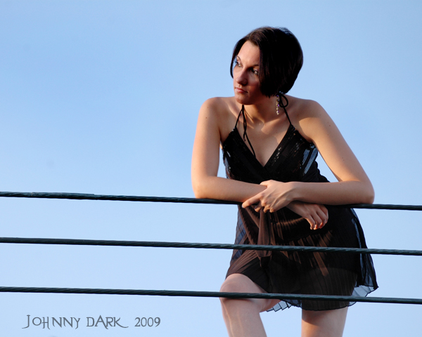 Male and Female model photo shoot of Johnny Dark and MissJackieB in Columbia sc, Mall Roof-Top