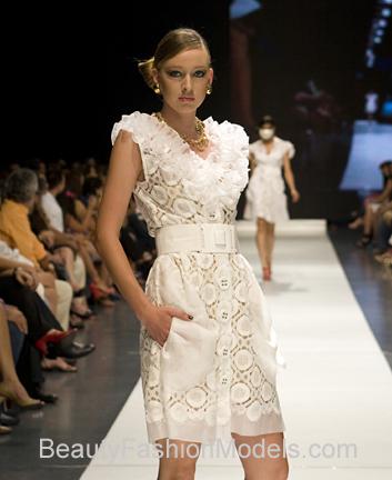 Female model photo shoot of AriannaK in Dominican Republic Fashion Week 2009