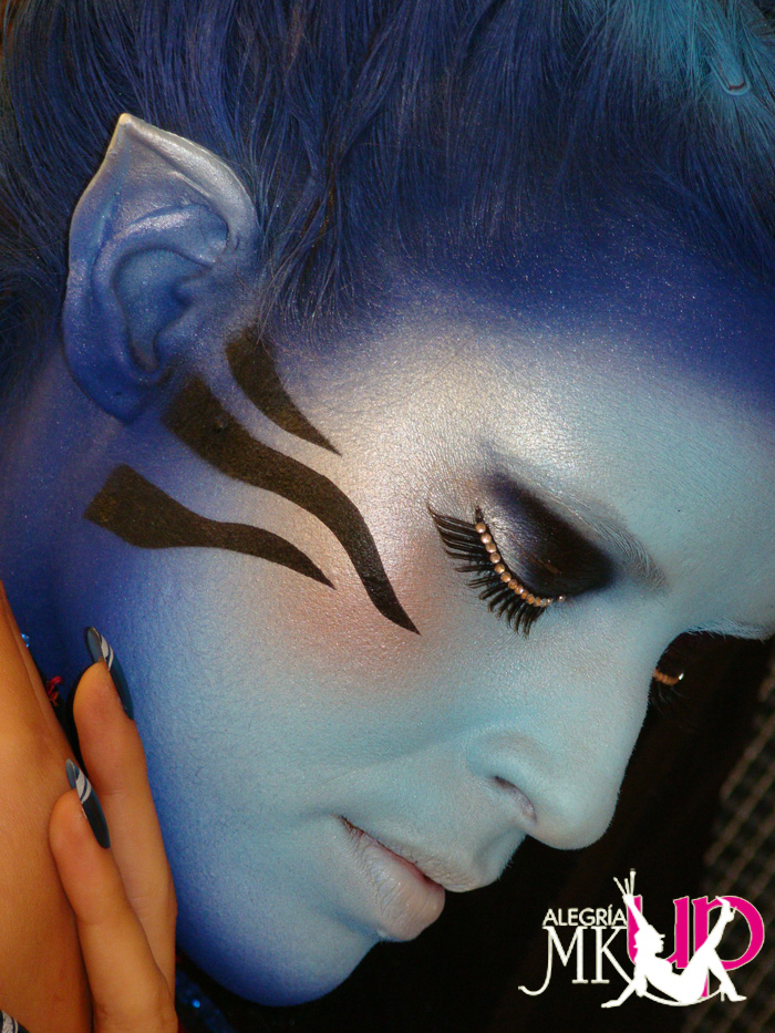 MADRID - SPAIN Jun 30, 2009 ALEGRIA MAKE UP BLUE